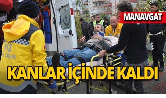 Manavgat'ta otomobil yayaya çarpıp kaçtı!