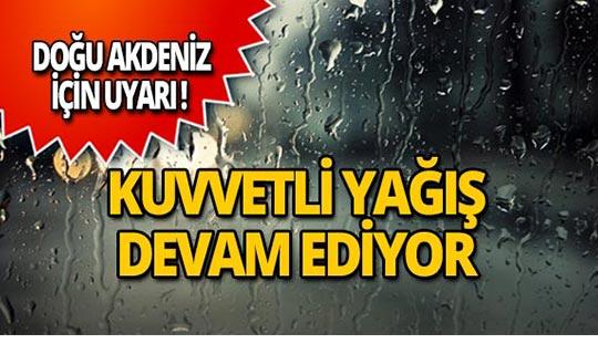 Meteoroloji Doğu Akdeniz için uyardı!