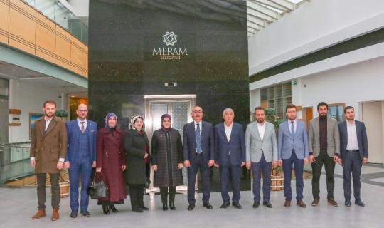 Mustafa Kavuş ve Mustafa Dolular Başkan Toru'yu ziyaret etti