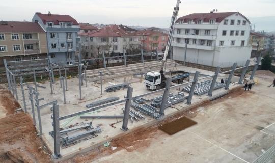 Orhangazi Spor Salonu'nun zemin kat çalışmaları başladı
