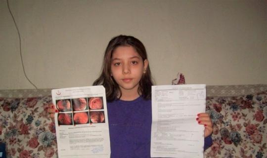 (Özel) 13 yaşındaki Nisanur'un minik bedeni 2 hastalığı birden taşıyor
