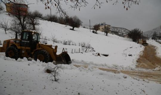 Tunceli'de karla mücadele