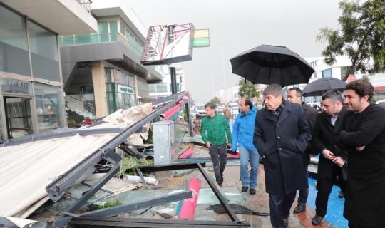 Türel'den hortumdan zarar gören vatandaşlara geçmiş olsun ziyareti