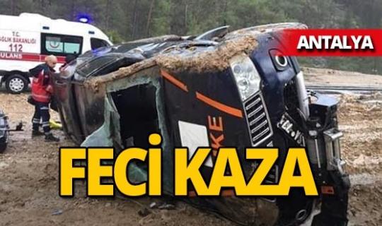 UMKE aracı kaza yaptı!