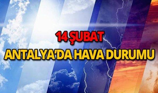 14 Şubat 2019 Antalya hava durumu