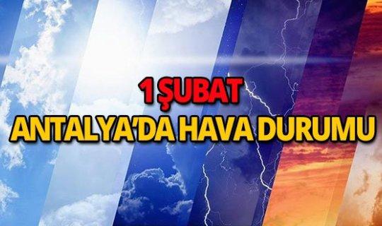 1 Şubat 2019 Antalya hava durumu