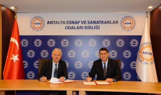 AESOB İle Antalya Bilim Üniversitesi Arasında Eğitim İş Birliği