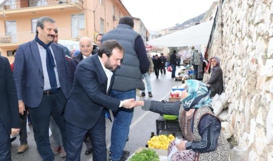Akseki Belediye başkan adayı Özkan, pazar esnafıyla buluştu