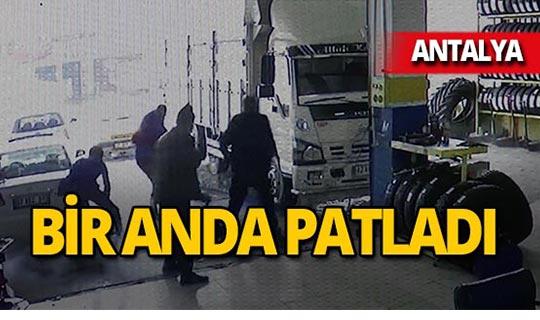Antalya'da bir anda patladı: 2 kişi yaralandı!
