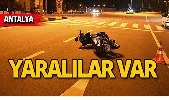 Antalya'da feci kaza: Yaralılar var!