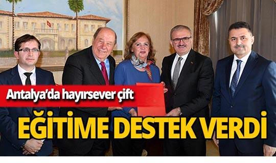 Antalya'da hayırsever çiftten eğitime destek!