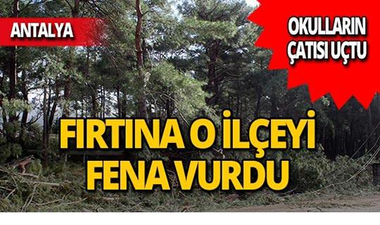 Antalya'da iki okulun çatısı uçtu!