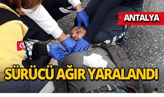 Antalya'da otomobil ile motosiklet çarpıştı!