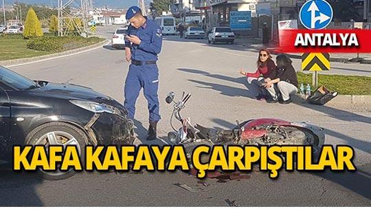 Antalya'da feci kaza: Sürücüye 2018 TL ceza!