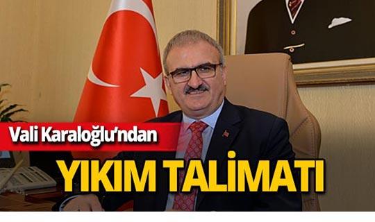 Antalya Valisi Münir Karaloğlu talimat verdi!