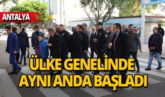 Antalya'da 'Öncelik Hayatın Öncelik Yayanın' uygulaması başladı