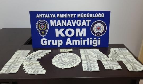 Antalya'da sahte 10 bin dolar ele geçirildi
