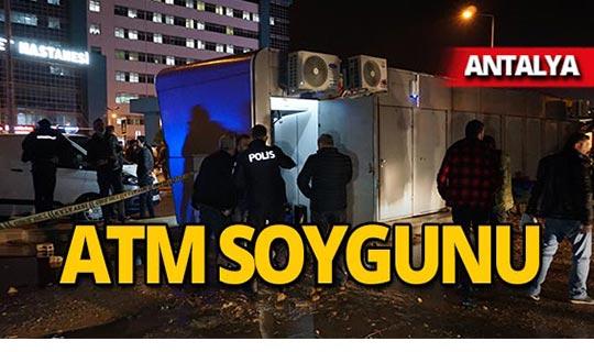 Antalya'da silahlı ATM soygunu!