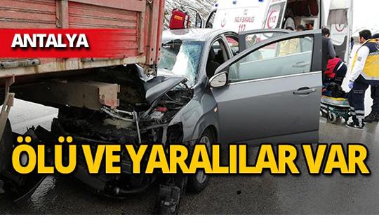 Antalya'da feci kaza: Ölü ve yaralılar var!