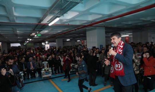 Antalya'nın en çevreci otoparkı hizmete girdi