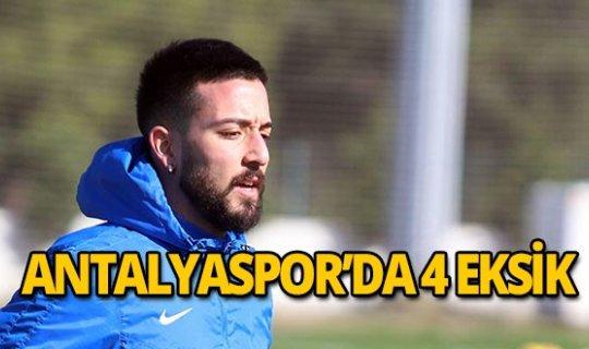 Antalyaspor'da 4 futbolcu kadroda yer almadı