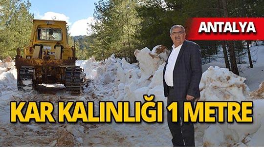 Büyükşehir'den kar mücadelesi!