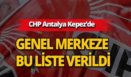 İste CHP Antalya Kepez Belediye Meclis üye listesi