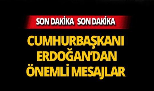 Cumhurbaşkanı Erdoğan'dan ODTÜ'de önemli açıklamalar!