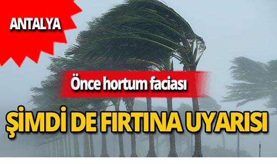 Dikkat! Meteoroloji Antalya'nın batı ilçeleri için uyardı!