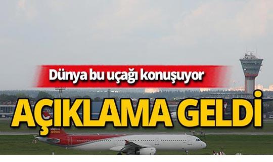 Dünya bu uçağı konuşuyor! Açıklama geldi!