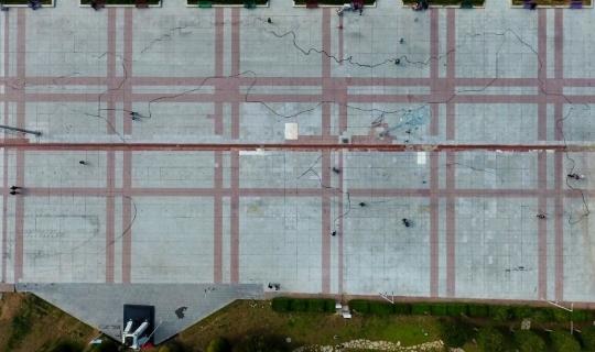 Kent Meydanı'na 2 bin 500 metrekare genişliğinde Türkiye haritası