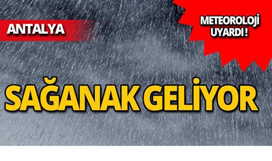 Meteoroloji Antalyalıları uyardı:  ŞİDDETLİ YAĞMUR GELİYOR!