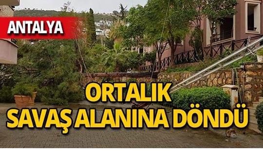 Turizm merkezi Kalkan'ı da fırtına vurdu!