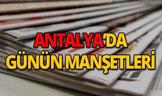 14 Mart 2019 Antalya'nın yerel gazete manşetleri