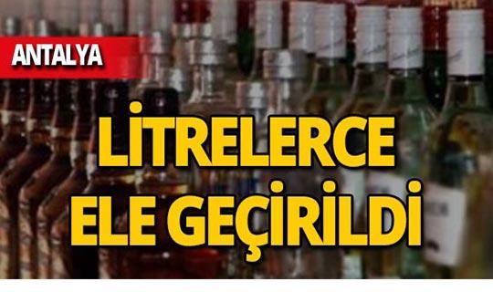 Antalya'da bin 570 şişe ele geçirildi!