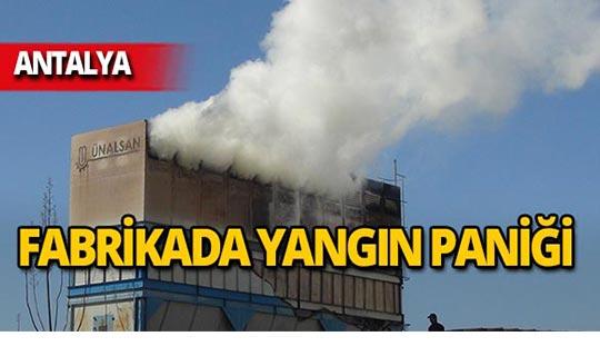 Antalya'da fabrikada yangın!