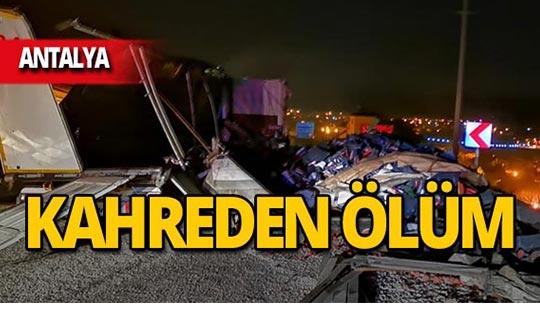 Antalya'da feci kaza ölümle bitti!