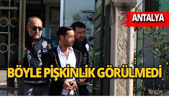 Antalya'da hırsızın savunması şoke etti!