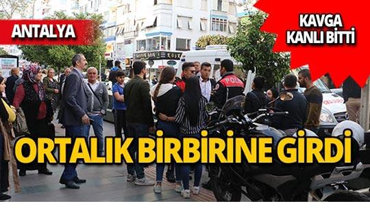 Antalya'da omuz atma kavgasında kan aktı!