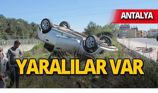 Antalya'da peş peşe iki kaza! Yaralılar var