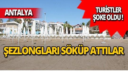Antalya'da plajı dağıttılar!