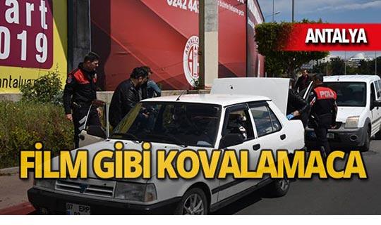 Antalya'da polis kovaladı, o kaçtı!