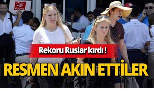 Antalya'da rekoru Ruslar kırdı!