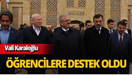 Antalya Valisi Karaloğlu'ndan öğrencilere destek