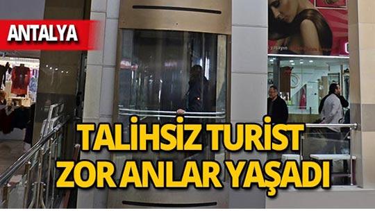 Antalya'ya tatile gelen turistin zor anları!