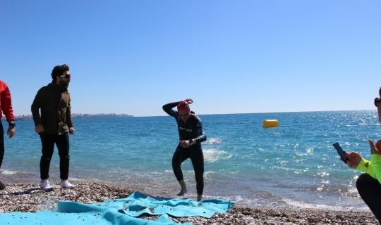 Antalyaspor Triatlon sporcusu Dilber üçüncü oldu