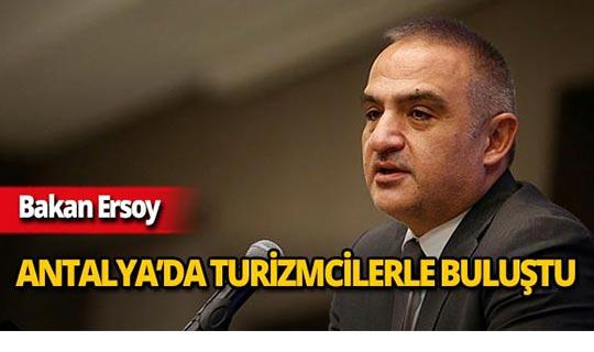 """Bakan Ersoy: """"Antalya'da sezon 12 aya uzayacak"""""""