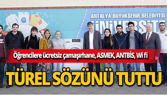 Başkan Türel öğrencilere verdiği sözü tuttu!
