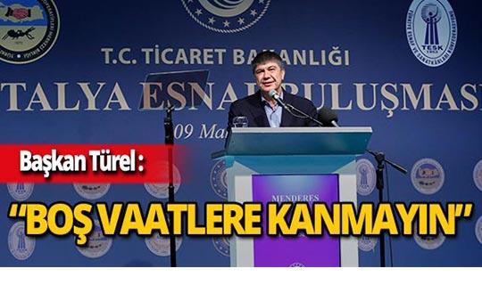"""Başkan Türel: """"Şampiyonluk kupasını havaya kaldıracağız"""""""