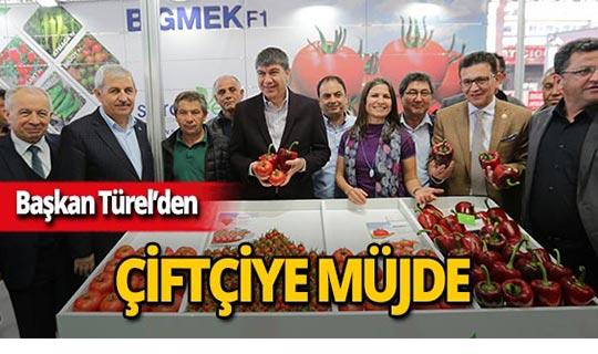 Başkan Türel'den Antalyalı çiftçiye müjdeli haber!